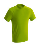 Green tshirt islated on white