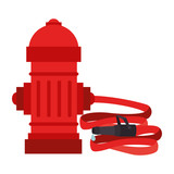 hydrant hosewater tank metal fireman department vector graphic isolated illustration