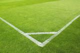 Fußballfeld Ecke Linien