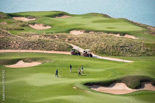 golf resort with the scenery of the sea - 117937412