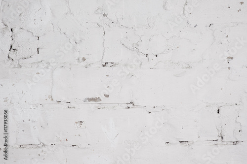 Poster Concrete wall with whitewash layer