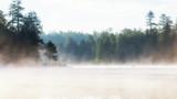 Misty Morning Lake at Sunrise - 117946699