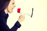 Bullhorn Woman Yelling