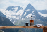 Outdoor cafe on mountain