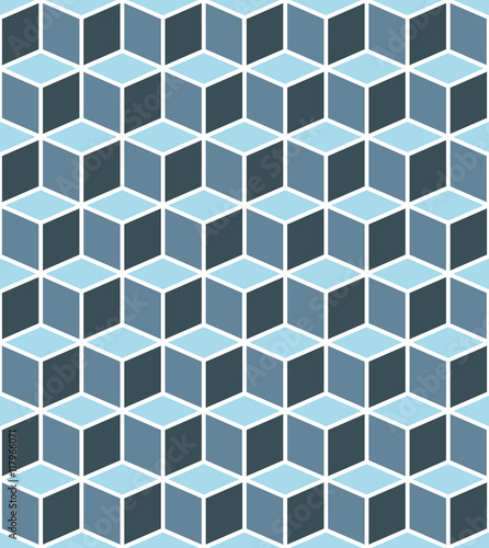 Isometric cubes seamlessly repeatable pattern. 3D background. Vector - 117966071