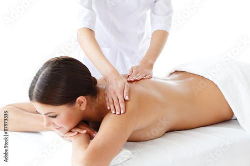 Kobieta coraz masażu
