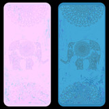 Bookmark template with ethnic  elephant ornament