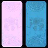 "Bookmark template with ethnic  elephant ornament 102088644,Hände zum Himmel"""