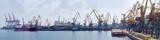 Panorama of sea cargo port