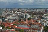 Aerial view of Hamburg city