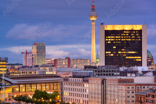 Naklejka Berlin, Germany Cityscape