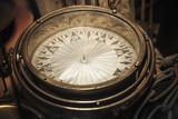 Vintage compass, close up photo