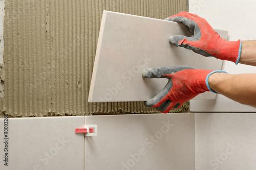 fototapeta remont �azienki uk�adanie p�ytek p�ytki