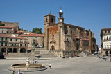 Plaza mayor de Trujillo, iglesia de San Martín, Extremadura (España)
