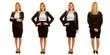 Verschiedene Posen von Geschäftsfrau im Set