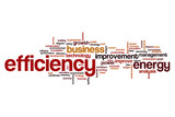 Efficiency word cloud