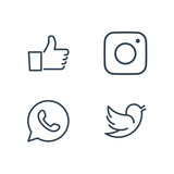 Social media icons for user interfaces and feedback boxes