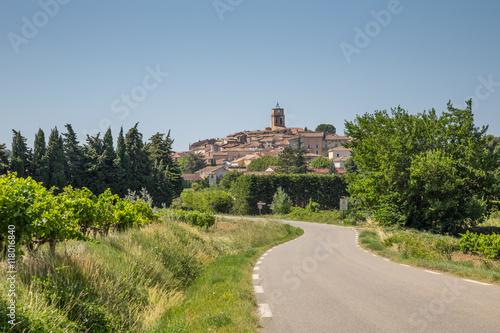 Poster Village de Sablet, Haut Vaucluse