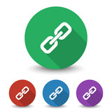 White Links icon in different colors set