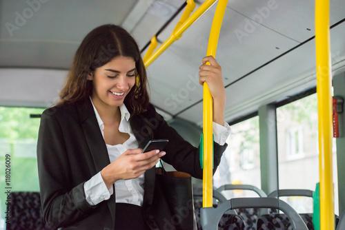 Poster Businesswoman Using Smartphone