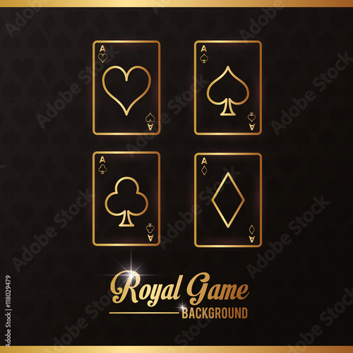 Poster cards casino las vegas game icon