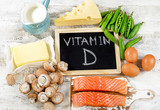 Foods rich in vitamin D. - 118029839
