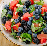 Fresh Watermelon Salad. Healthy diet food.