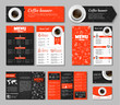 Set coffee corporate identity