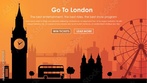 Zdjęcia na płótnie, fototapety, obrazy : Header Template London scenery