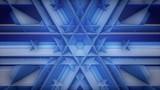 Blue Hexagon pattern loop video, stage background loop movie