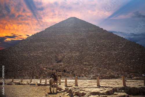Poster pyramids of Giza