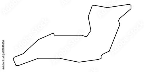 Foto op Plexiglas F1 Autodromo Enzo e Dino Ferrari - Imola - Streckenverlauf
