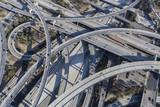 Fototapety Los Angeles 110 and 105 Freeway Interchange Ramps Aerial