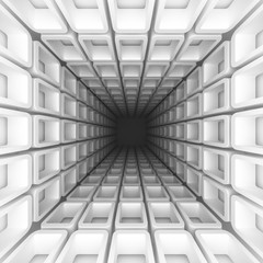Abstract White Architecture Tunnel Background