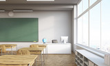 Fototapety Classroom with panoramic window