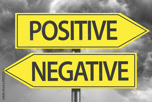Positive x Negative yellow Poster