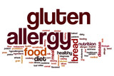Gluten allergy word cloud