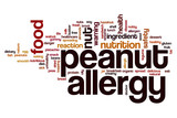 Peanut allergy word cloud