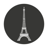 tower eiffel isolated icon