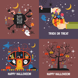 Halloween greeting card set for web and graphic design