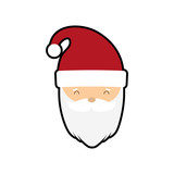 santa cartoon merry christmas celebration icon. Isolated and flat illustration, vector