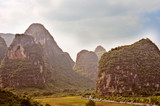 View at Karst mountains near Guilin in China.