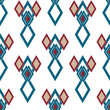 Seamless rhombus retro colors pattern background geometric abstr