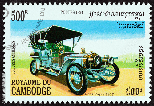 Poster Rolls Royce 40/50 Silver Ghost Tourer, 1907 (Cambodia 1994)