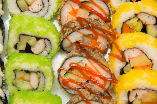 Fototapeta Sushi, Japanese food