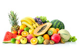 Fototapety Assortment of exotic fruits