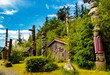 Native American Clan House and Totems