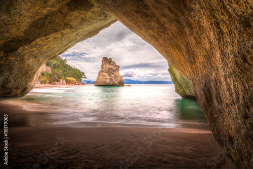 Deurstickers Cathedral Cove Cathedral Cove #2, New Zealand