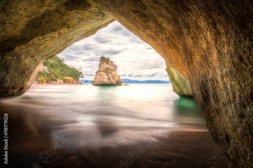 Deurstickers Cathedral Cove Cathedral Cove #3, New Zealand