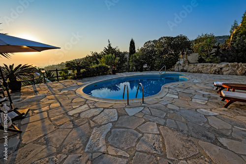 In de dag Cyprus Private swimming pool